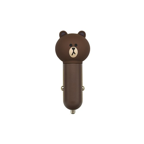 Cargador USB para automóvil (Line Friends – Brown)