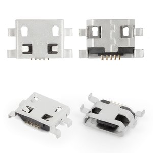 Charge Connector compatible with Lenovo A300, (5 pin, micro USB type-B)