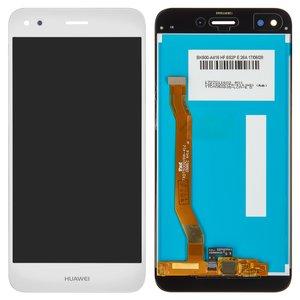 LCD compatible with Huawei Nova Lite (2017), P9 Lite mini, Y6 Pro (2017), (white, with touchscreen, Original (PRC), SLA-L02, SLA-L22, SLA-L03)