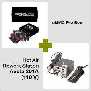 eMMC Pro Box + Hot Air Rework Station Accta 301A (110 V)