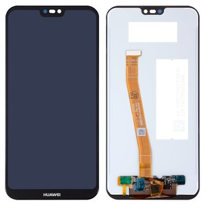 LCD compatible with Huawei P20 Lite, (black, with touchscreen, Original (PRC), ANE-L21/ANE-LX1)