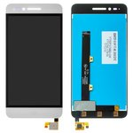 Pantalla LCD puede usarse con ZTE Blade A610, blanco, con cristal táctil, Original (PRC)