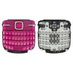 Клавиатура Nokia C3-00, розовая, английская