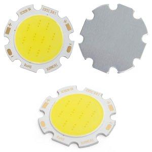 COB LED модуль 5 Вт (холодный белый, 450 лм, 28 мм, 300 мА, 15-17 В)