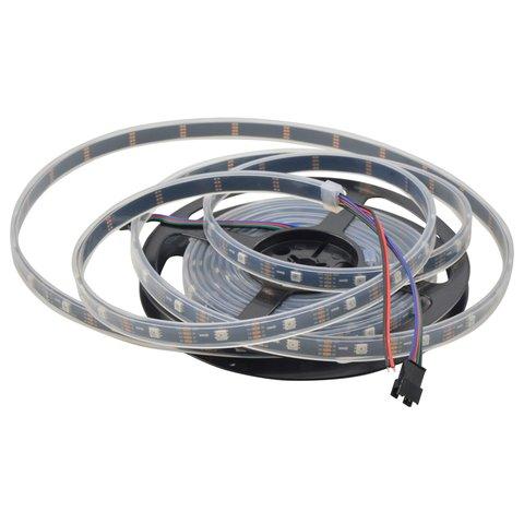 Світлодіодна стрічка RGB SMD5050, WS2813 чорна, з управлінням, IP67, 5 В, 30 діодів м, 1 м