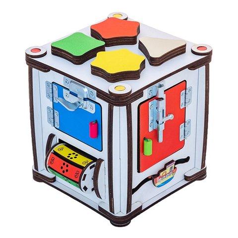 Бізіборд GoodPlay Кубик для розвитку з підсвіткою 17×17×18