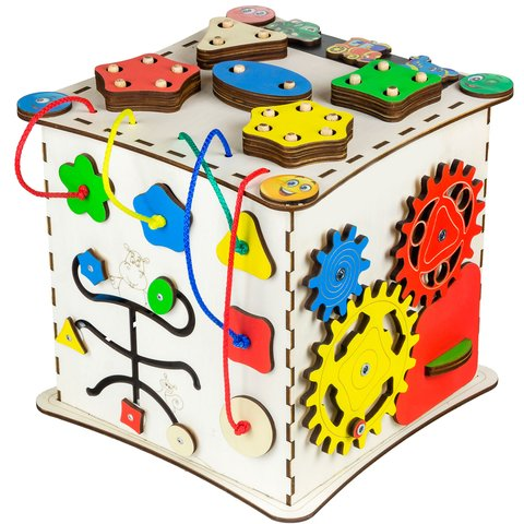 Бізіборд GoodPlay Кубик для розвитку (25×25×25)
