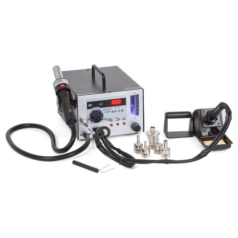 Hot Air Soldering Station AOYUE 968 with Soldering Iron and Smoke Absorber 220 V