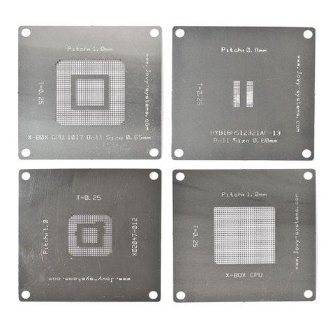 BGA Reballing Stencils for XBox 360 Jovy Systems JV RMX
