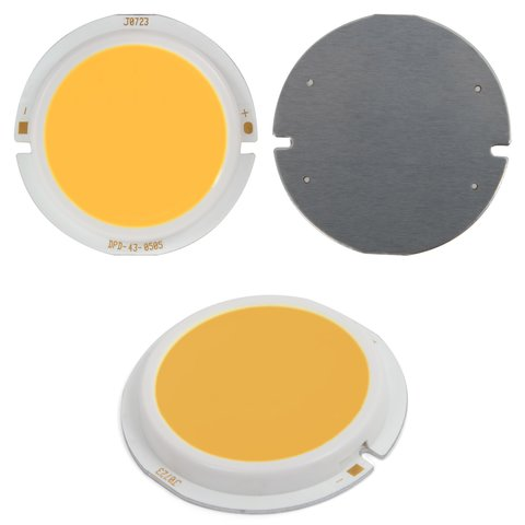 COB LED Chip 5 W warm white, 450 lm, 43 mm, 300 mA, 15 17 V